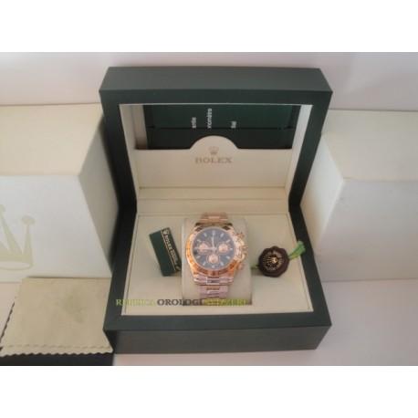 Rolex replica daytona rose gold black dial orologio replica copia