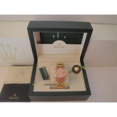 Rolex replica pearlmaster oro giallo red yellow bezel orologio replica copia