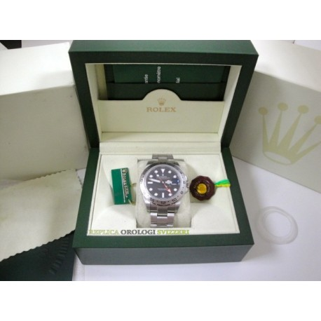 Rolex replica explorer II black dial 42mm new basilea orologio replica copia