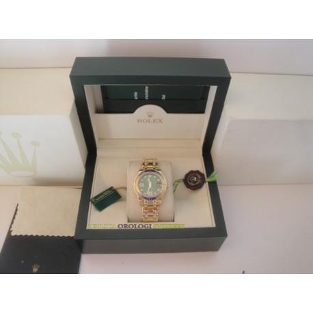 Rolex replica pearlmaster oro giallo blu yellow bezel orologio replica copia