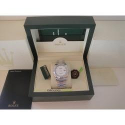 Rolex replica datejust acciaio white barrette oyster orologio replica copia