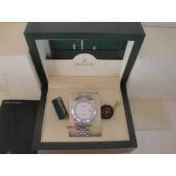 Rolex replica datejust acciaio white barrette jubilèè orologio replica copia