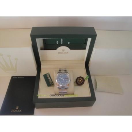 Rolex replica datejust acciaio blu roman oyster orologio replica copia