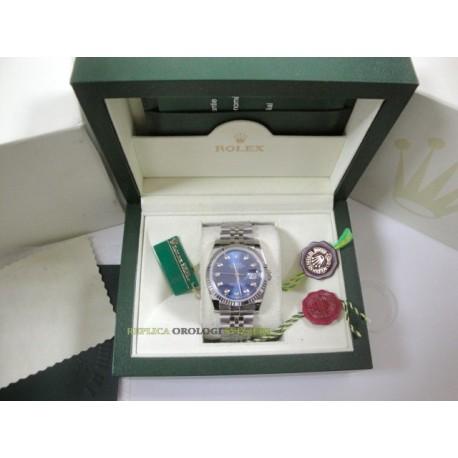 Rolex replica datejust acciaio blu brillantini jubilèè orologio replica copia