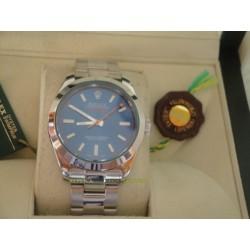 Rolex replica milgauss green sapphire blue dial orologio replica copia