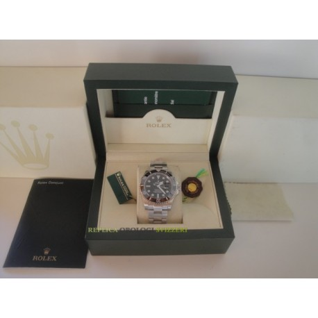 Rolex replica submariner ceramichon black dial orologio replica copia