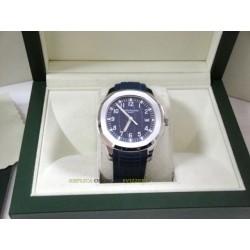 Patek Philippe aquanaut blue dial strip rubber orologio replica copia