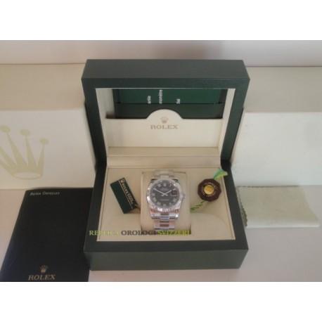 Rolex replica datejust acciaio black barrette oyster orologio replica copia