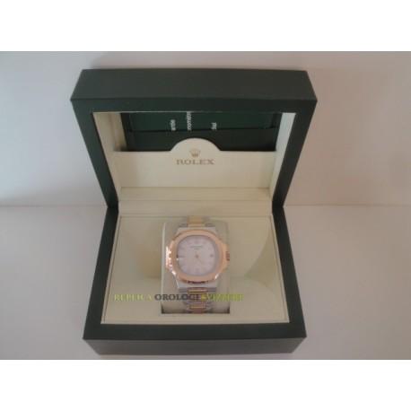 Patek Philippe acciaio rose gold white dial orologio replica copia