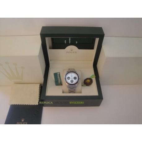 Rolex replica daytona vintage paul newman 6263 argentèè dial orologio replica copia