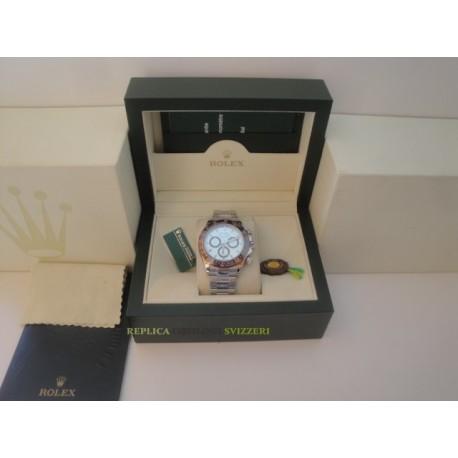 Rolex replica daytona acciaio brown bezel ice dial orologio replica copia