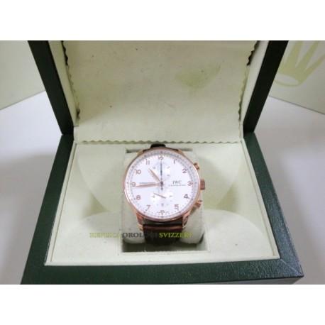 IWC replica portoghese rose gold strip leather orologio replica copia