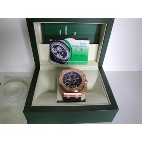 Audemars Piguet replica royal oak offshore michael schumacher rose gold blu dial chrono orologio replica copia