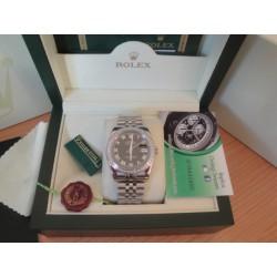Rolex replica datejust acciaio full brillantini black roman jubilèè orologio replica copia