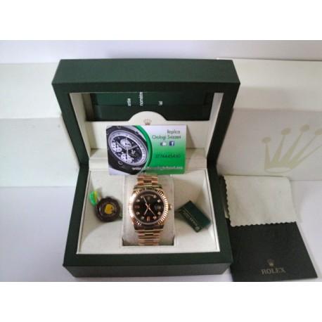Rolex replica daydate oro giallo black dial orologio replica copia