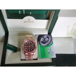 Rolex replica daydate rose gold brown dial orologio replica copia