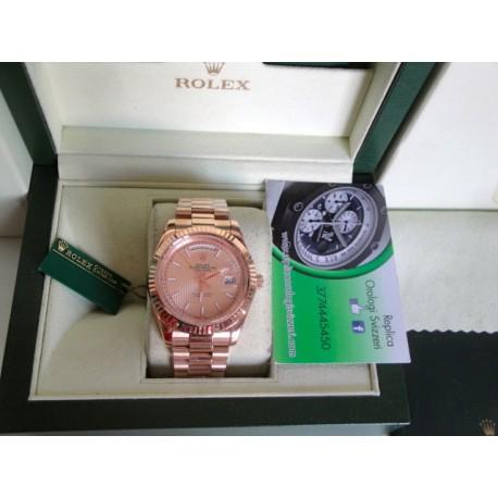 Rolex replica daydate full rose gold orologio replica copia
