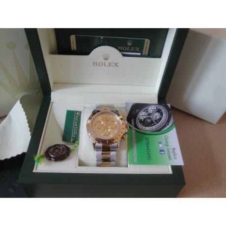 Rolex replica daytona acciaio oro gold dial orologio replica copia