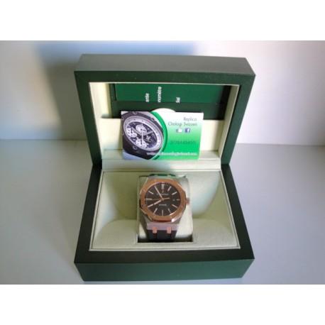 Audemars Piguet replica royal oak jumbo acciaio rose gold gray dial orologio replica copia