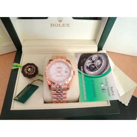 Rolex replica datejust rose gold white dial jubilèè orologio replica copia