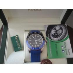 Rolex replica GMT master II ceramichon nero blue rubber-b orologio replica copia