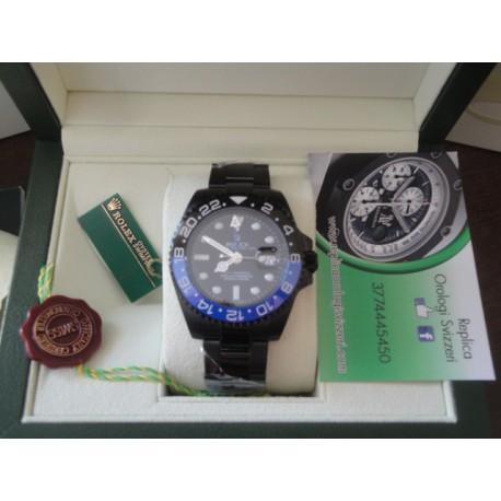 Rolex replica GMT master II ceramichon nero blu pro-hunter pvd orologio replica copia
