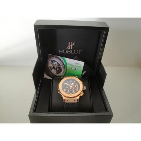 Hublot replica big bang rose gold strip rubber orologio replica copia