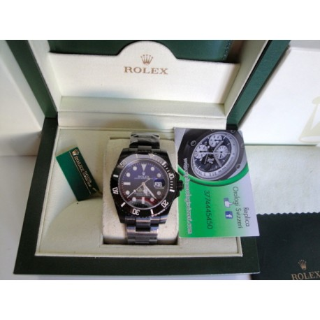 Rolex replica submariner ceramichon pro-hunter pvd blaken special edition orologio replica copia