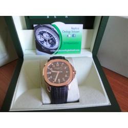 Patek Philippe aquanaut rose gold strip rubber orologio replica copia