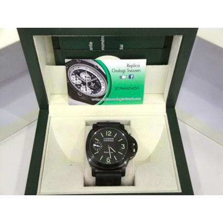 Panerai replica luminor marina PVD pro-hunter ceramic strip leather orologio replica copia