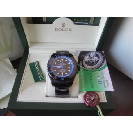 Rolex replica deepsea seadweller 44mm colors pro-hunter celeste orologio replica copia