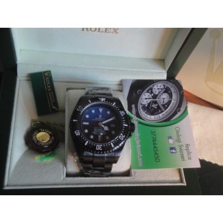 Rolex replica deepsea seadweller 44mm pro-hunter d-blue jacques piccard orologio replica copia