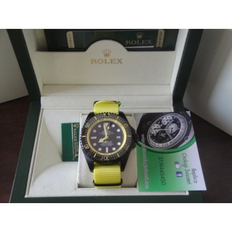 Rolex replica deepsea seadweller 44mm colors pro-hunter cordura yellow orologio replica copia