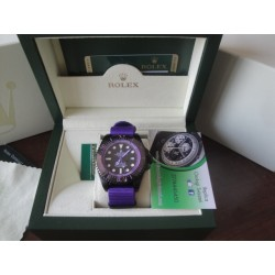 Rolex replica deepsea seadweller 44mm colors pro-hunter cordura violet orologio replica copia