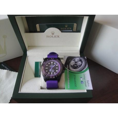 Rolex replica deepsea seadweller 44mm colors pro-hunter cordura violet orologio replica copia