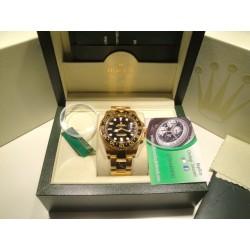 Rolex replica GMT master II ceramichon oro black dial orologio replica copia