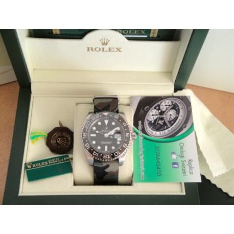Rolex replica GMT master II ceramichon acciaio cordura camouflage orologio replica copia