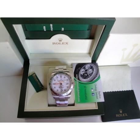 Rolex replica explorer II white dial 42mm new basilea orologio replica copia