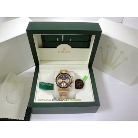 Rolex replica daytona vintage paul newman oro 6263 black dial orologio replica copia
