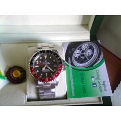Rolex replica GMT master II vintage plexi rosso nero orologio replica copia