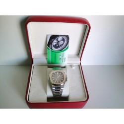 Patek Philippe acciaio jumbo nautilus blue dial orologio replica copia
