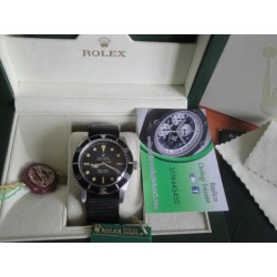 Rolex replica submariner vintage cordura 100mt black dial orologio replica copia