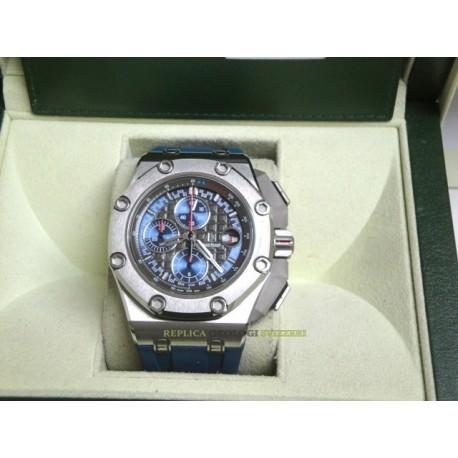 Audemars Piguet replica royal oak offshore michael schumacher platinum blu dial chrono orologio replica copia
