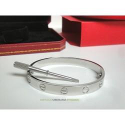 Cartier replica love bracciale oro bianco imitazione perfetta