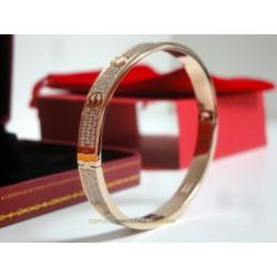 Cartier replica love bracciale oro rosa diamond imitazione perfetta