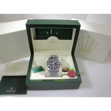 Rolex replica submariner no data ceramichon black dial orologio replica copia