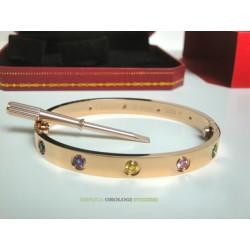 Cartier replica love bracciale oro rosa 10 diamanti imitazione perfetta