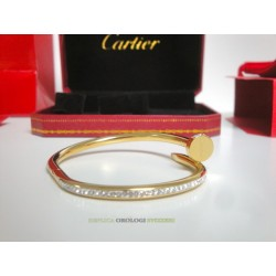 Cartier replica just on clue bracciale oro giallo diamond imitazione perfetta