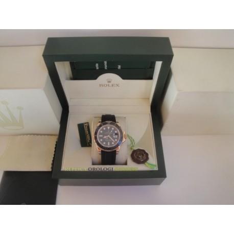 Rolex replica yacht master I rose gold strip rubber orologio replica copia