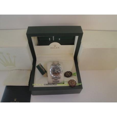 Rolex replica datejust acciaio black brillantini oyster orologio replica copia
